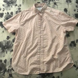 Cactus Man Button down Short Sleeve Shirt XL